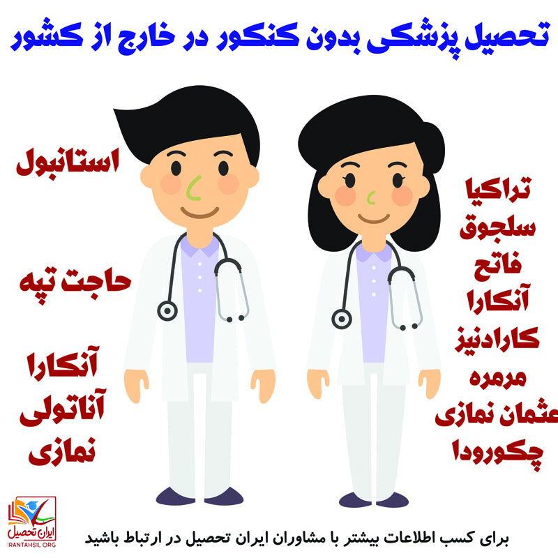 پزشکی بدون کنکور خارج از کشور